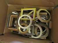 30 for two boxes of small finished  wooden frames with box