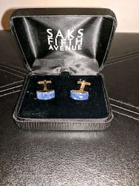 Blue Stone & Gold Cufflinks by Saks Temple Terrace, 33617