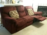 Reclining sofa with power recline, maroon in color Austin, 78750