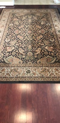 Brown, white, and black floral area rug Palo Alto, 94306