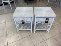 2 Wicker Nightstands