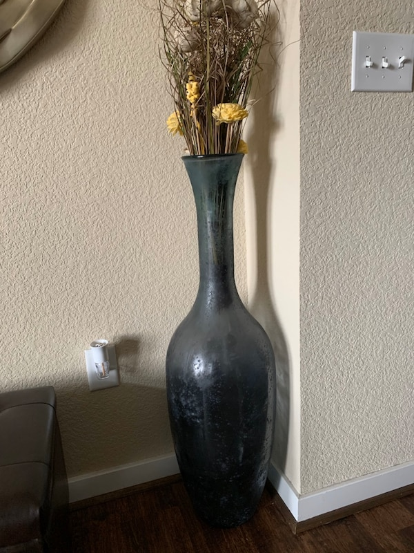 Tall Glass Vase 0