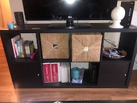 Open shelf tv stand with woven baskets Alexandria, 22304