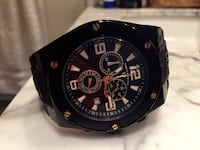 Mint swiss legend black and gold watch with rubber strap Burnaby