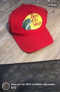 Bass pro hat NEW condition adjustable London, N5W 6E3