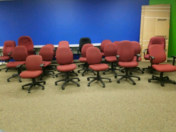 RED TASK CHAIRS ( $25 each )