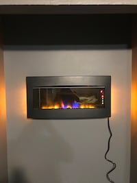 Colour changing remote fire place.