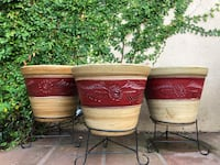 New Set of 3 Vase Planters with Stand Chula Vista, 91910