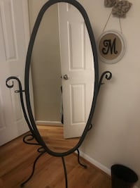 Rod iron mirror