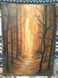 brown and black abstract painting St. John's, A1B 2E2