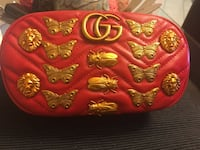 Pink and yellow floral leather handbag Toronto, M9W 6L4