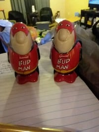 two red and yellow ceramic figurines St. Louis, 63116