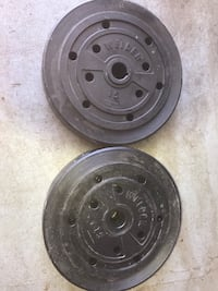 two black bullet hole car wheels Edmonton, T6W 0J4