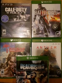 Xbox one and ps3 games