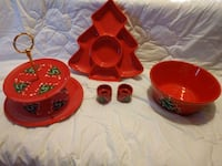 red and black ceramic dinnerware set Virginia Beach, 23455