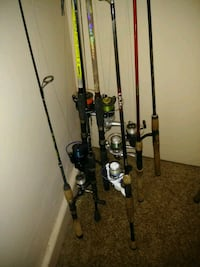 Bass fishing rods and baitcasters