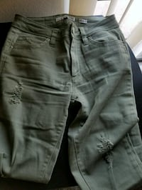Mid-rise Green Jeans Heber, 92249