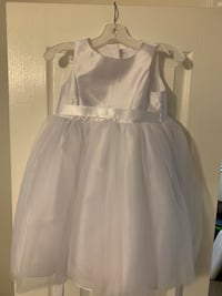 Flower girl dress and bow