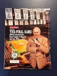 Boston Celtics Final Game Program at Boston Garden 4/21/95