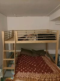 Left bed frame only DOUBLE solid wood 536 km