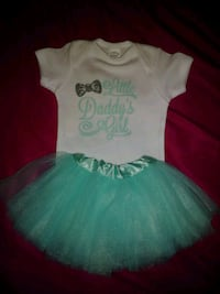 girl's teal tutu skirt 6-12 month Harlem, 30814