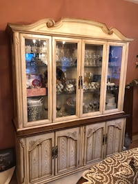 French provincial hutch and kitchen table
