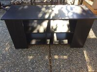 black wooden TV stand with shelf Langley, V2Y 2Y1