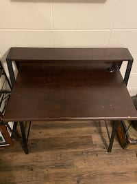 Small Desk with Shelf and ISB Port