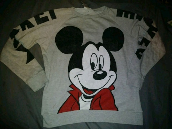 gray Mickey Mouse sweatshirt