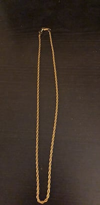 Gold plated rope style chain  Whitby, L1N 9W9