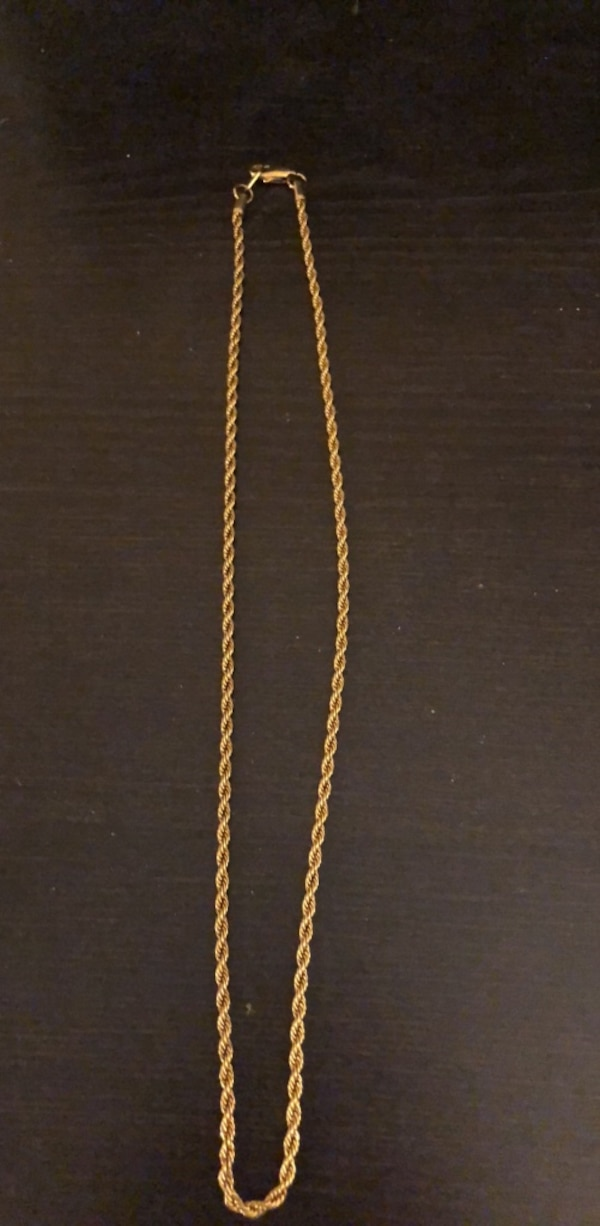 Gold plated rope style chain