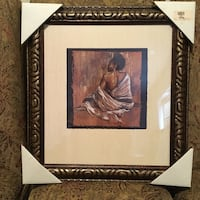 woman with naked back painting in black frame Atlanta, 30311