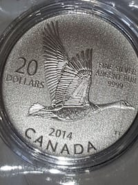 Goose pure silver limited edition coin Canada