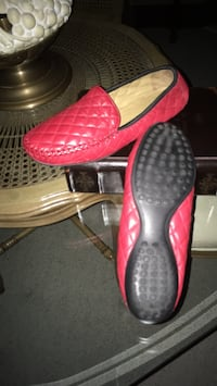 Size 8 1/2 New red soft leather women's loafer bought at David's shoes Oakville, L6K 1Y8