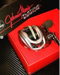 Johnny Morris Platinum Signature Baitcast Reel and Rod Silver Spring