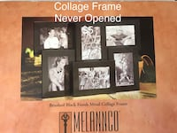 black wooden photo frame with text overlay