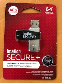 Imation secure usb flash drive 64gb new Great Falls, 22066