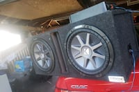 2 12inch Kicker CompVR with 1600 watt amp D mono 1 East Chicago