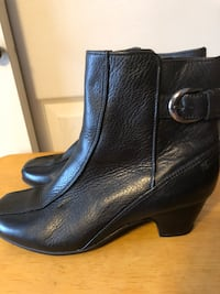 Clark's Artisan Women's Sz 8.5W, Black Leather Ankle Boots Baltimore, 21236
