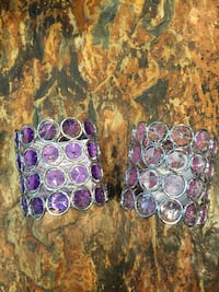 two silver and purple glass accessories Burtonsville, 20866