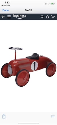 Schylling Speedster- Red Race Car Colton, 92324
