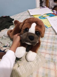 white and brown puppy plush toy Dallas, 75228