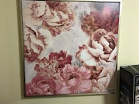 Large Pink Floral Painting Sherwood Park, T8H 2P2