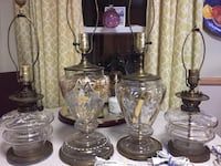 four antic glass table lamp bases Boston, 02136