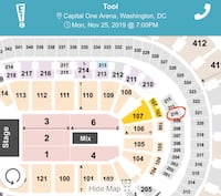Tool Tickets- Capitol One Arean D.C. 11/25 Springfield, 22150