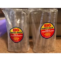Big Party CLEAR Plastic Champagne Glasses 20ct (NEW) Houston, 77082