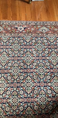 brown, white, and blue floral area rug Potomac, 20854