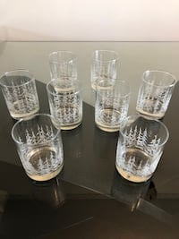 10-piece Winter Wonderland Water Glasses Markham
