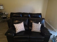 black leather 2-seat sofa Paramount, 90723