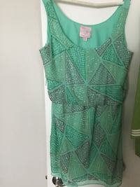 green and white spaghetti strap dress Sunny Isles Beach, 33160